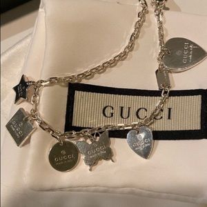 Gucci Sterling Silver Charm Bracelet